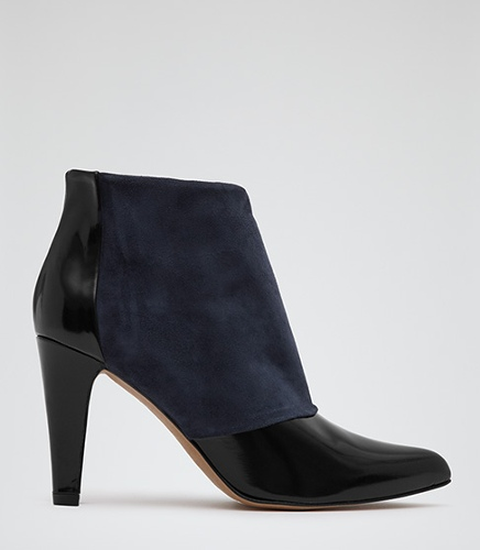 Reiss Dionne TWO-TONE ANKLE BOOTS