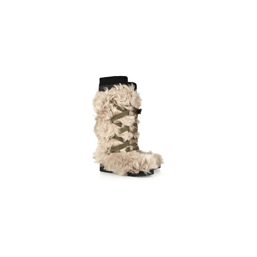 Shearling knee boots