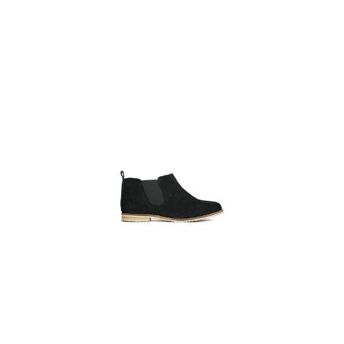 ASOS AZUMI Suede Chelsea Ankle Boots - Black