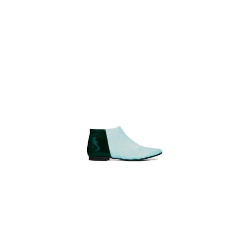 Won Hundred Elenora Colour Block Ankle Boots - Green