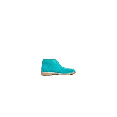 ASOS ARMY Suede Ankle Boots - Turquoise