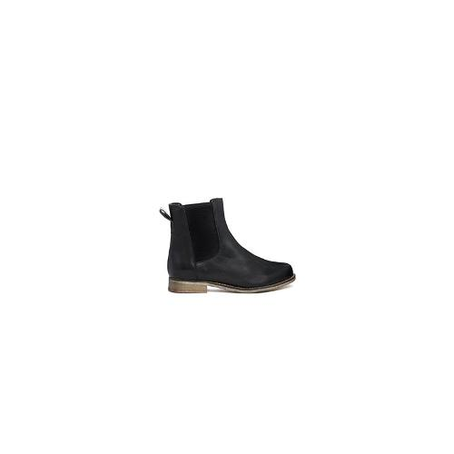 ASOS AU REVOIR Leather Chelsea Ankle Boots - Black