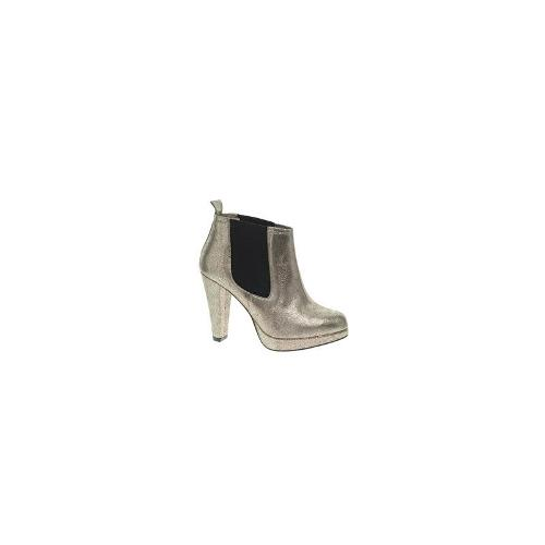 Ganni Fiona Suede Heeled Chelsea Boot - Golden