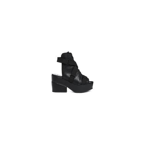 ASOS ECLIPSE Sandal Ankle Boots - Black