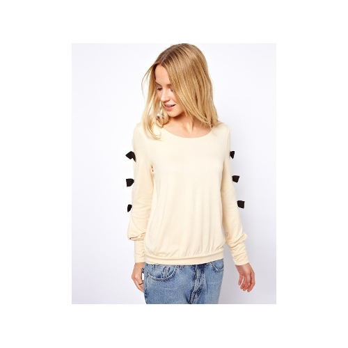Jumper With Bow Sleeve