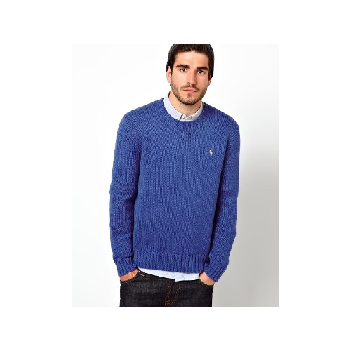 Jumper in Chunky Knit Crew Neck