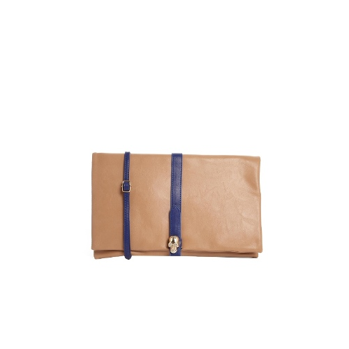 Clutch Bag With Contrast Coloured Panel