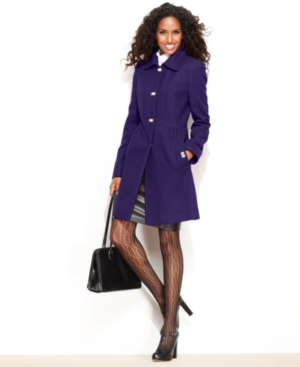DKNY Coat, Turnlock Wool-Blend Walker