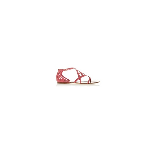 Amalie patent-leather sandals