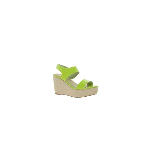Sol Society Philly Heeled Sandals - Neon yellow