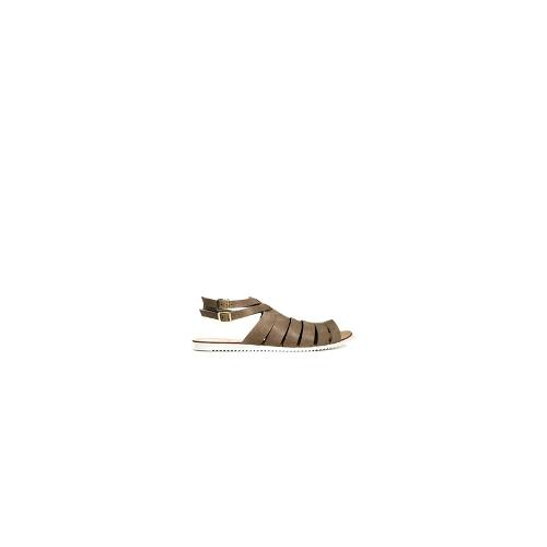 Pieces Kale Leather Light Sand Flat Sandals - Light sand