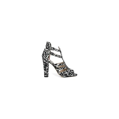 London Rebel Lucky Strappy Heeled Sandals - Leopard