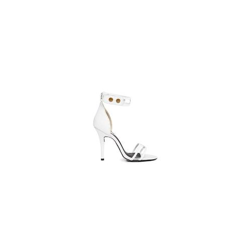 Sol Sana Hero White Transparent Strap Single Sole Sandals - White