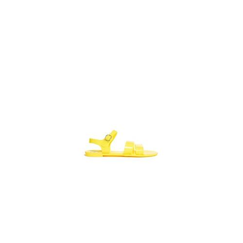 Juju Seven Yellow Flat Jelly Sandals - Yellow