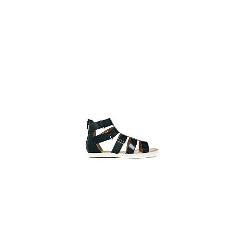 Park Lane Chunky Gladiator Flat Sandals - Black
