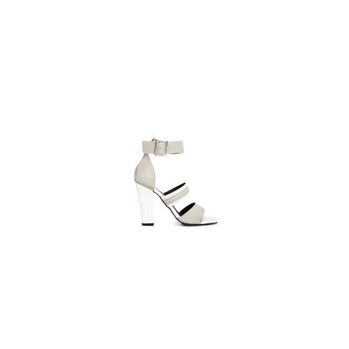 Sol Sana Belle Heel Dove Single Sole Sandals - Dove/white