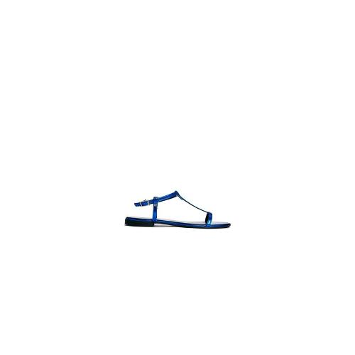 KG by Kurt Geiger Match T-Bar Blue Flat Sandals
