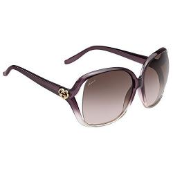 Gucci 3500 WNY/K8 sunglasses (size 60mm) : Plum to transparent