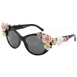 Dolce & Gabbana 4180 Flowers 501/87 sunglasses (size 59mm) : Black