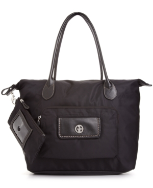 Giani Bernini Handbag, Nylon Multi Pocket Tulip Tote