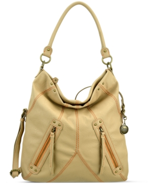 Vintage America Handbag, Zipped Up Medium Foldover Hobo