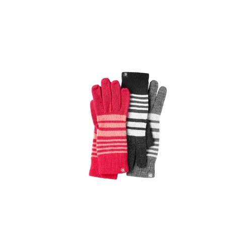 Isotoner Gloves, Lightweight Striped All Over Tech Touch