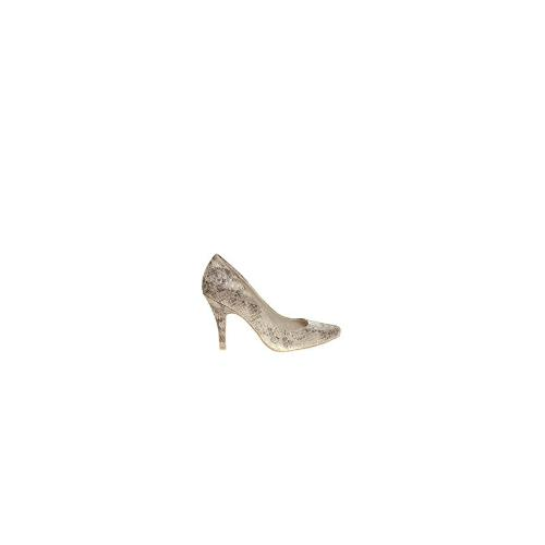Faith Camden Silver Pointed Court Shoes
