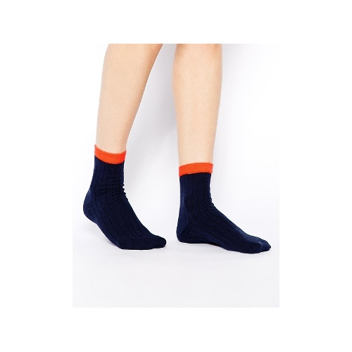 Neon Tipped Ankle Socks