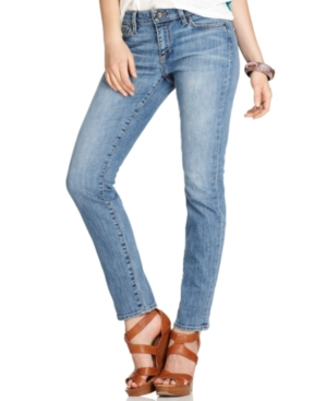 Else Jeans Boyfriend Jeans, Light-Wash Straight-Leg