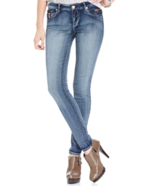 Tinseltown Juniors Jeans, Skinny Light Wash