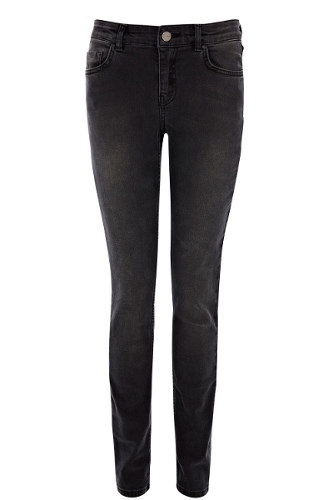 Long Grey Cherry Skinny Jeans