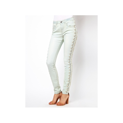 Aztec Embroidered Panel Skinny Jean