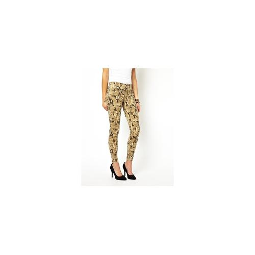 Denim & Supply By Ralph Lauren Skinny Jeans In Python Print