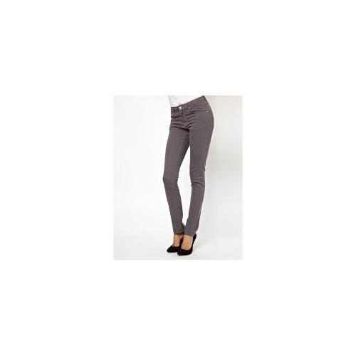 BZR High Waisted Skinny Jeans in Washed Black