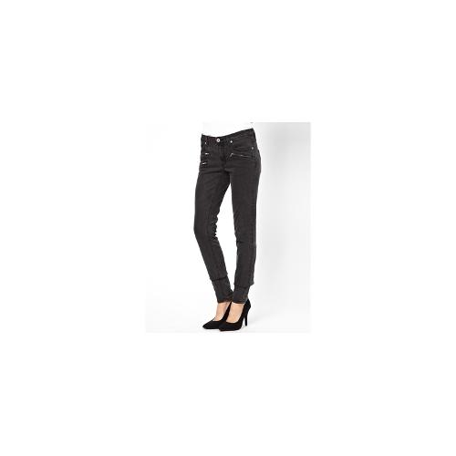 Vila Zip Detail Jeans - Black