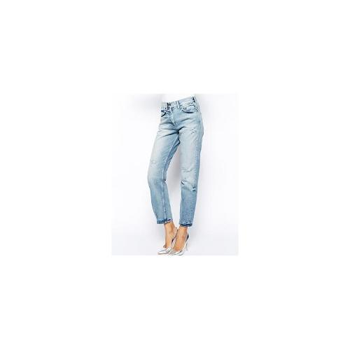 Selected Vilia Boyfriend Jeans with Rips