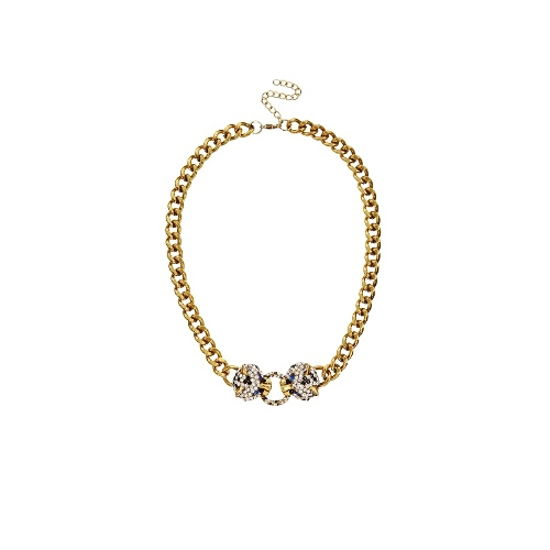 Leopard Gem Chain Necklace
