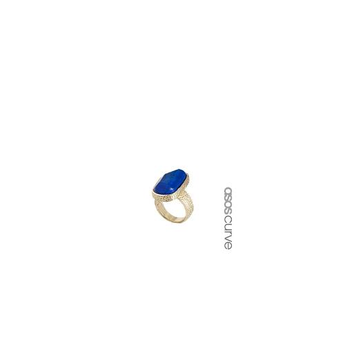 ASOS CURVE Nugget Semi Precious Ring - Blue