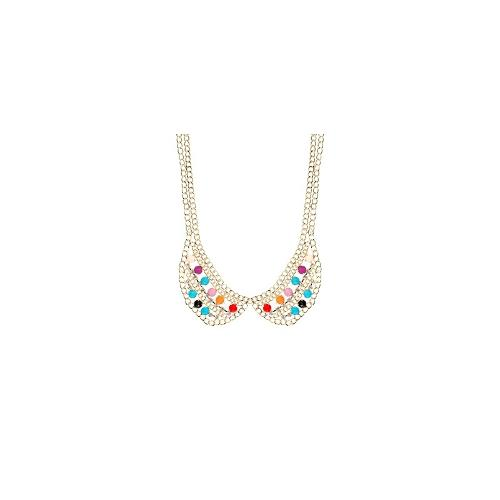 Johnny Loves Rosie Jewelled Statement Necklace - Gold