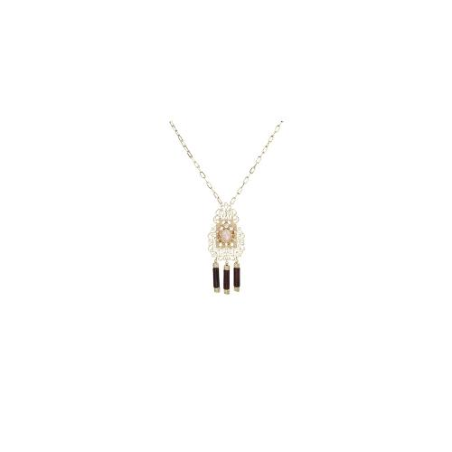 ASOS Filigree Chime Pendant Necklace - Gold