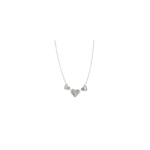 People Tree Love Heart Necklace - Silver