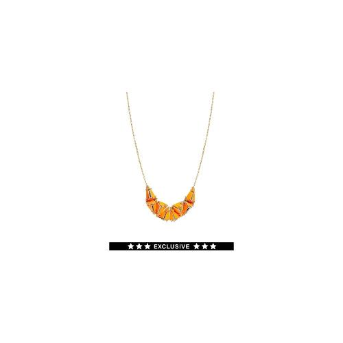 Made By EA Burns Exclusive For ASOS Mauteme Diamonds Necklace - Neon orange