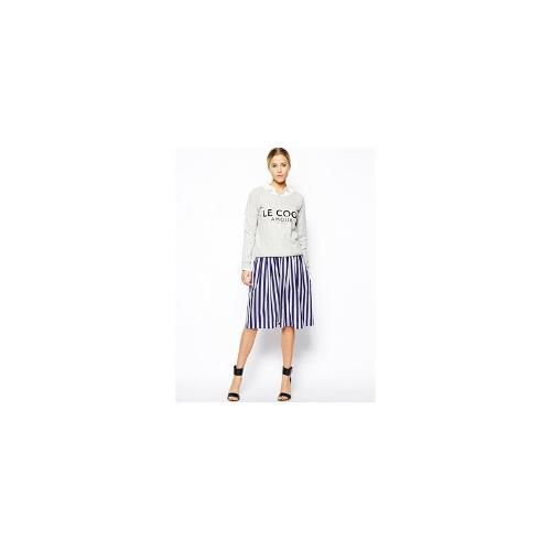 ASOS Woven Midi Skirt in Stripe