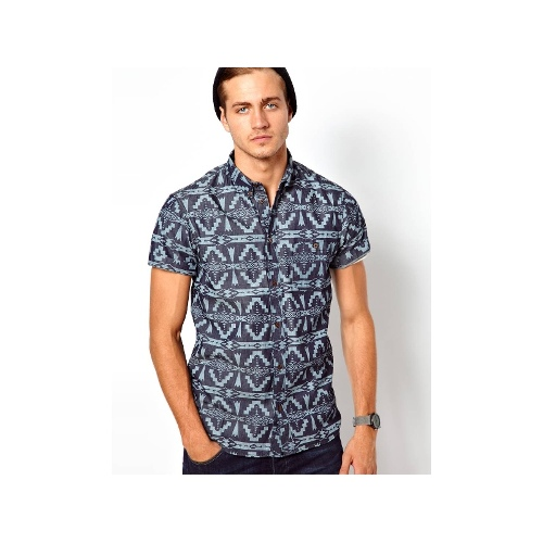 Solid Shirt with Short Sleeves
