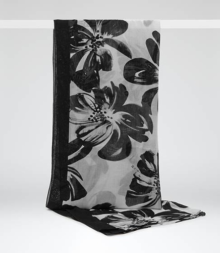 Reiss Lilly WATER LILY PRINT SCARF