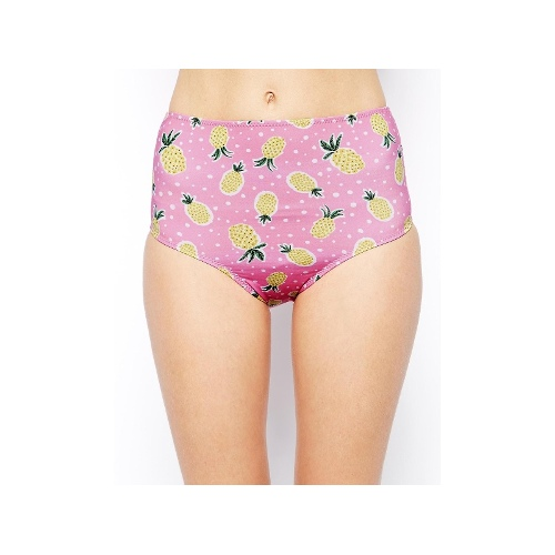 LBR Bombora Bomb Pineapple High Waisted Bikini Bottom