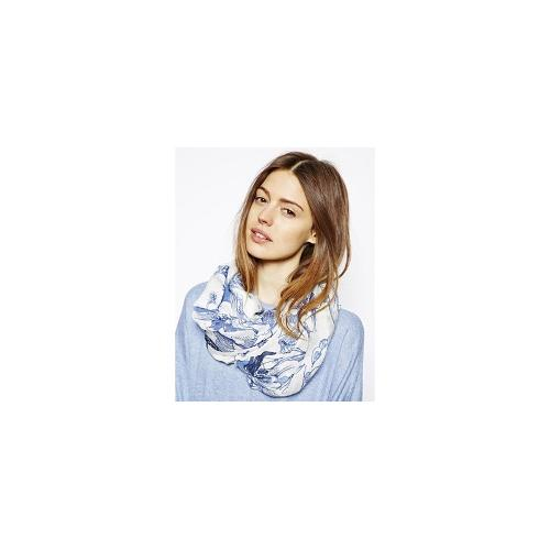 Barts Lillypilly Scarf - Blue and white