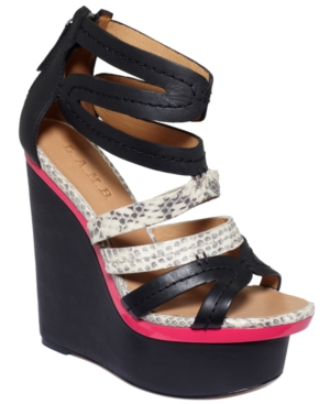 L.A.M.B Shoes, Jenelle Platform Wedge Sandals Women's Shoes