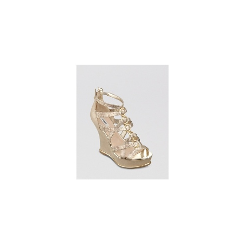 Guess Platform Wedge Sandals - Barran
