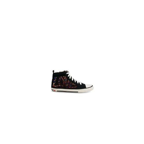 Love Moschino Love High Top Trainers - 00a black